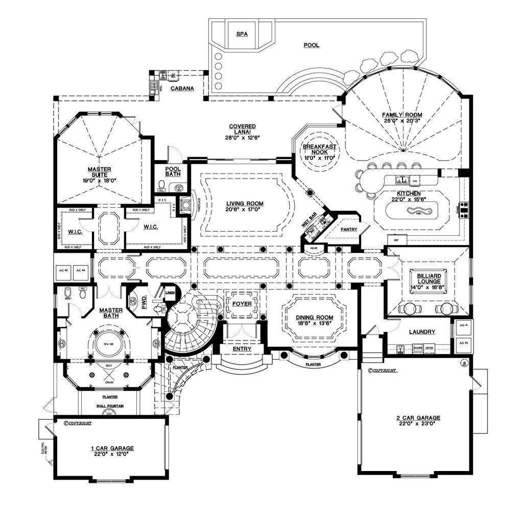 Best Mediterranean Style House Plan 5 Beds 5 50 Baths 6045 Sq With Pictures
