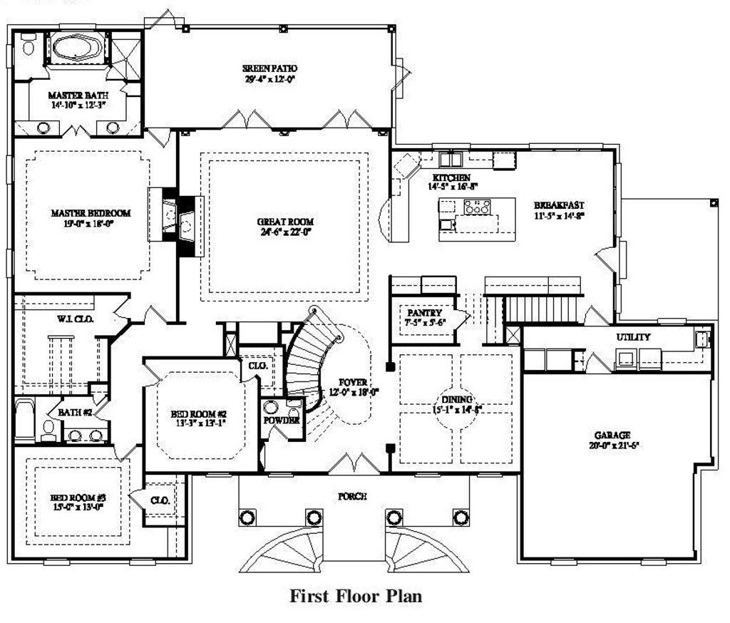 Best Colonial Style House Plan 7 Beds 5 00 Baths 4623 Sq Ft Plan 325 227 With Pictures