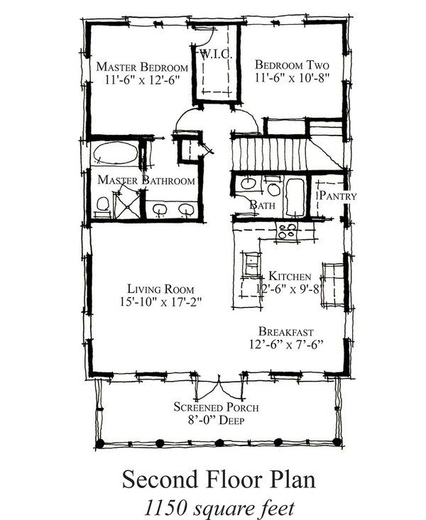Best Country Style House Plan 2 Beds 2 Baths 1150 Sq Ft Plan With Pictures