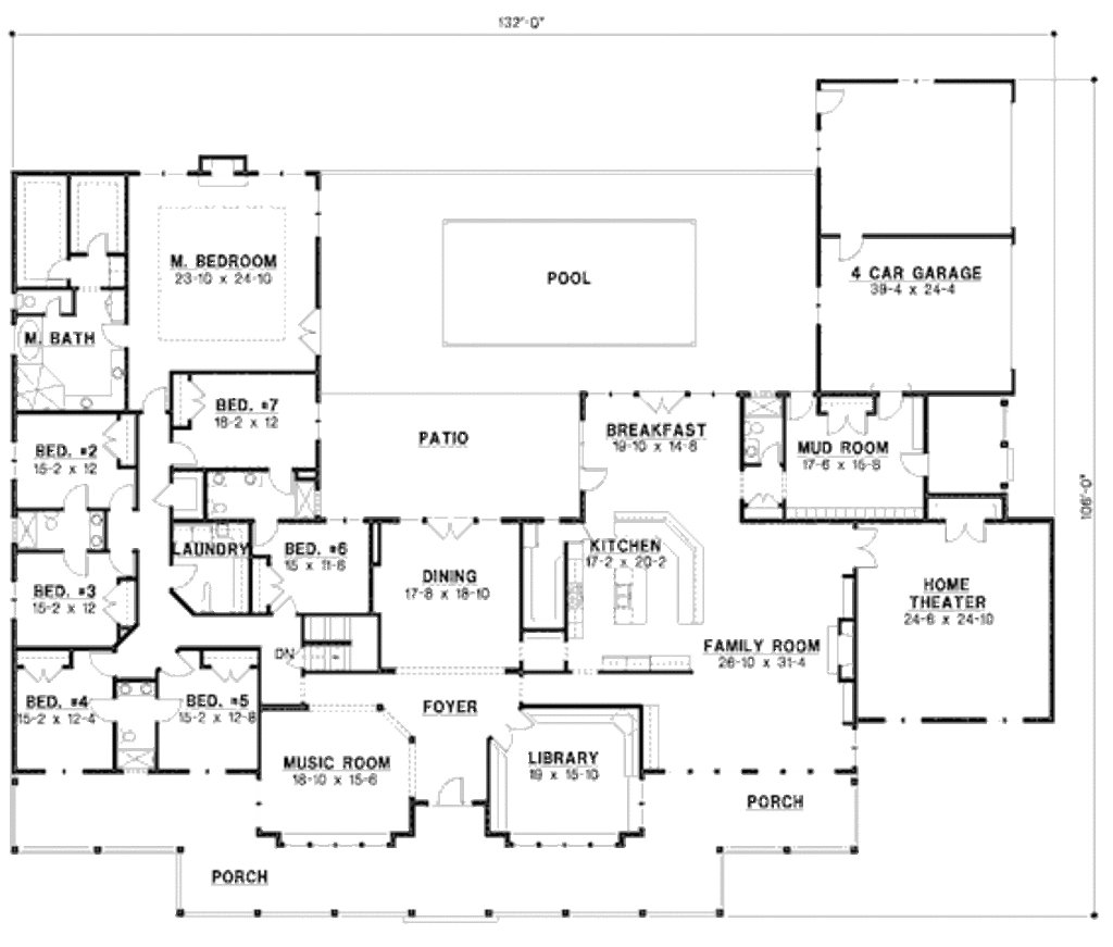 Best Country Style House Plan 7 Beds 6 Baths 6888 Sq Ft Plan With Pictures