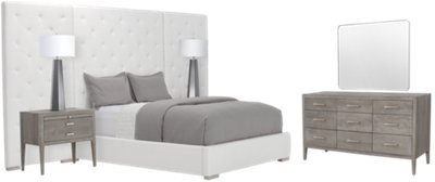 Best City Furniture Berlin White Upholstered Spread Bedroom With Pictures