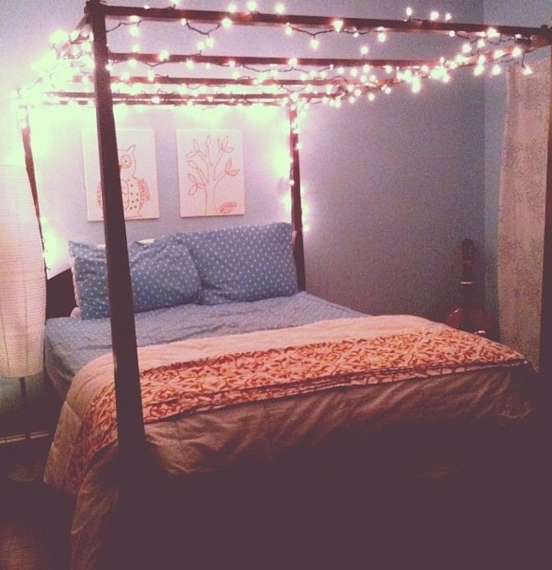 Best Bedroom Fairy Light Canopy – Decoredo With Pictures