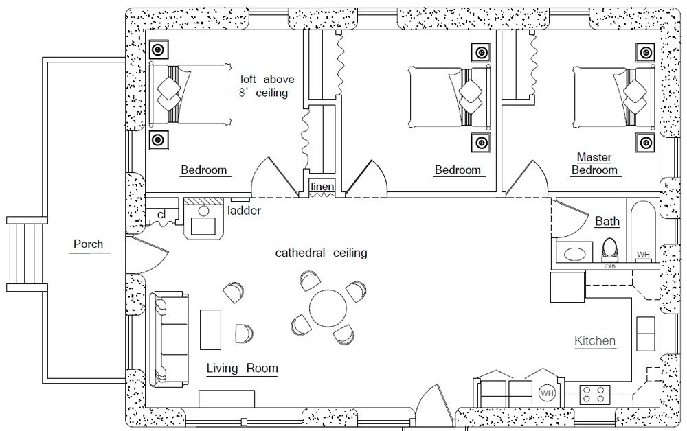 Best Rectangular Square Earthbag House Plans With Pictures