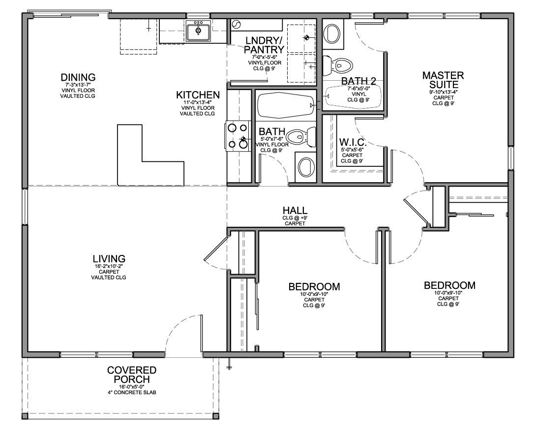 Best Floor Plan For Affordable 1 100 Sf House With 3 Bedrooms With Pictures