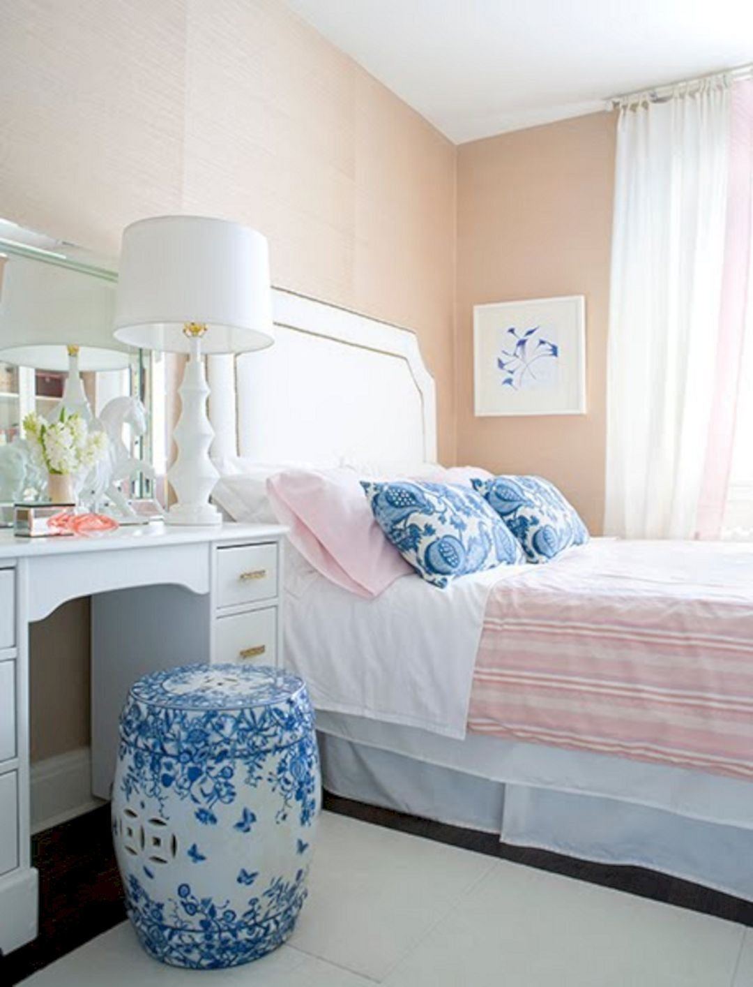 Best Peach White And Blue Bedroom 6 Peach White And Blue With Pictures