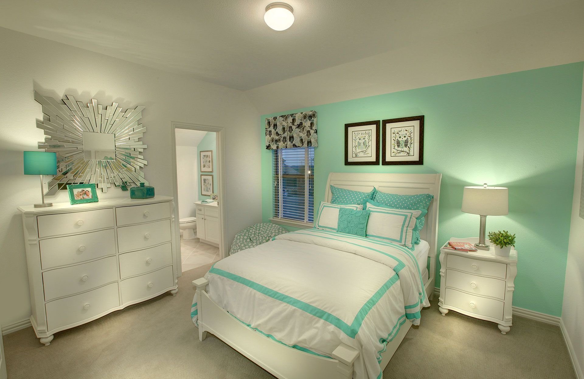 Best Mint Green Accent Wall Bedroom — Fres Hoom With Pictures