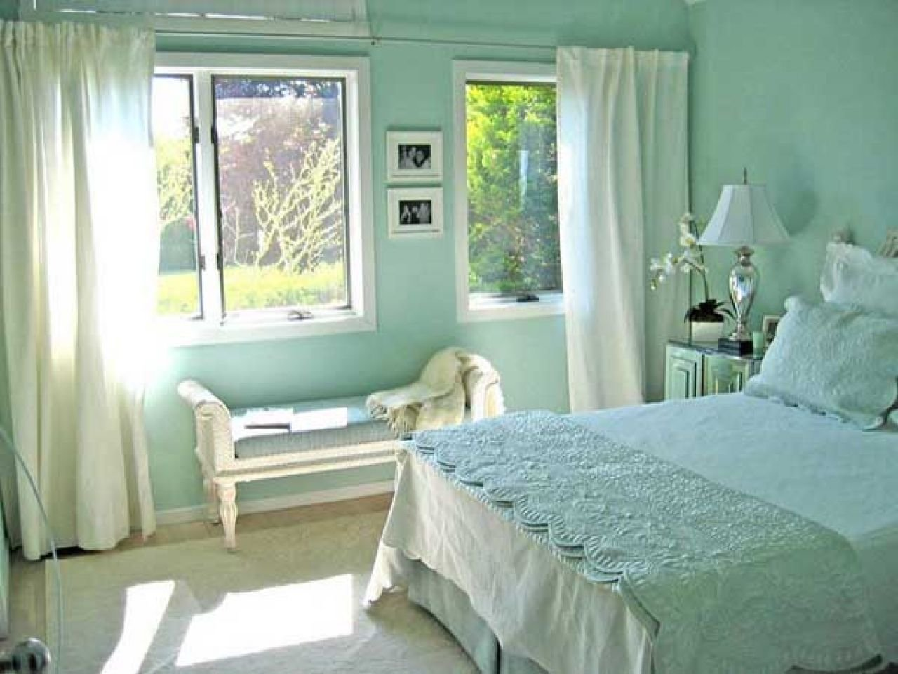 Best Very Cool Mint Green Bedroom — Fres Hoom With Pictures