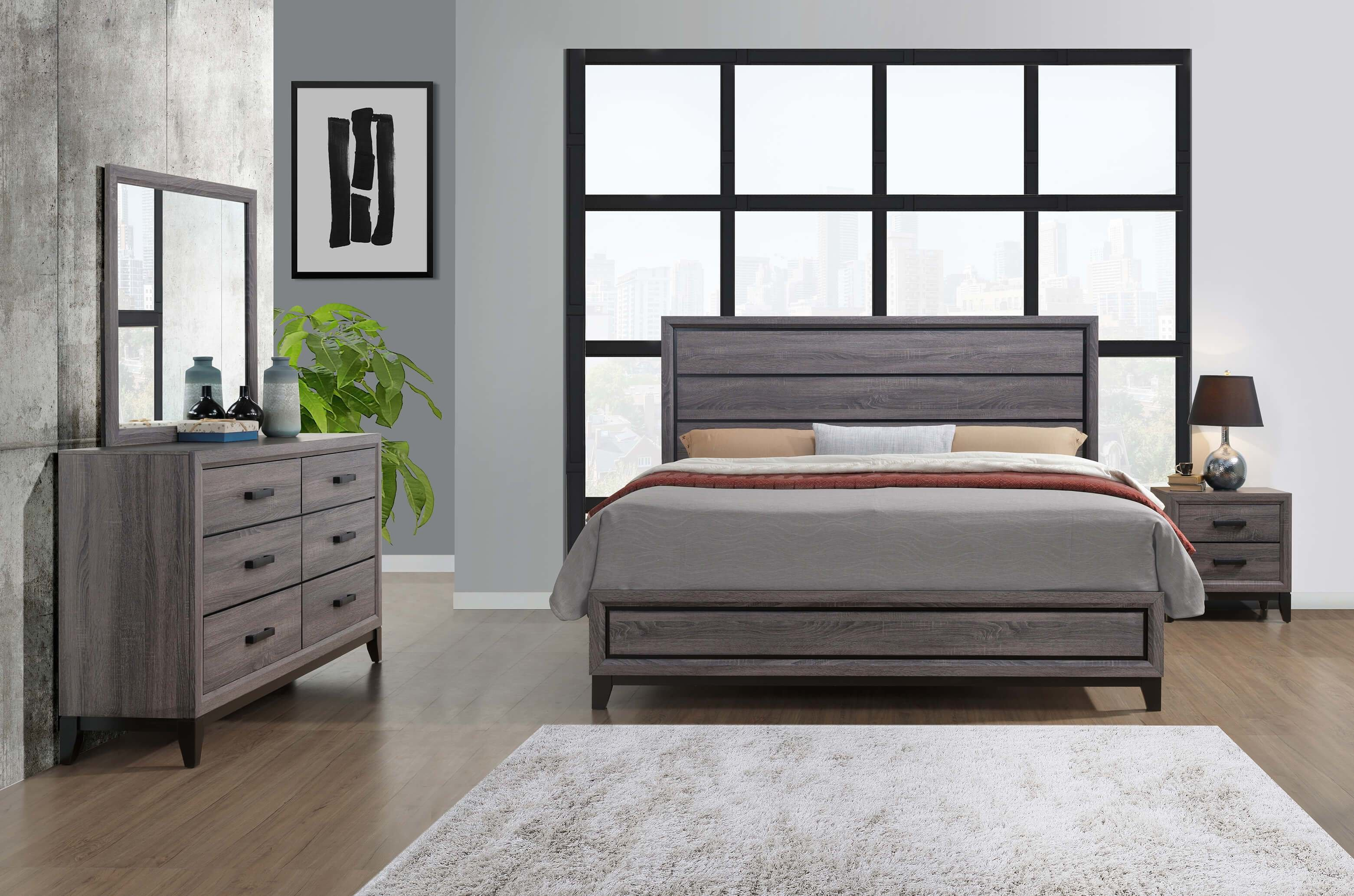 Best Kate Beech Wood Grey Bedroom Set Bedroom Furniture Sets With Pictures