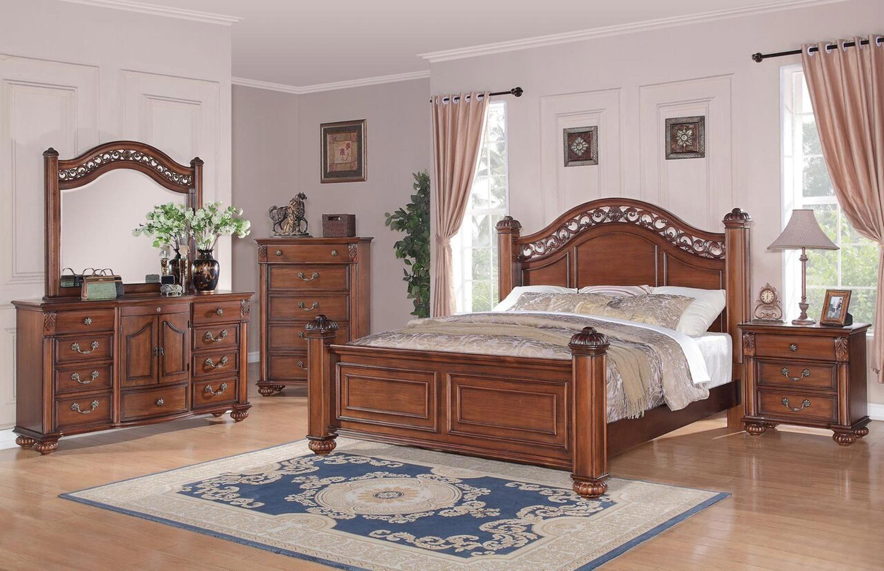 Best Barkley 6 Piece Bedroom Set Gonzalez Furniture With Pictures