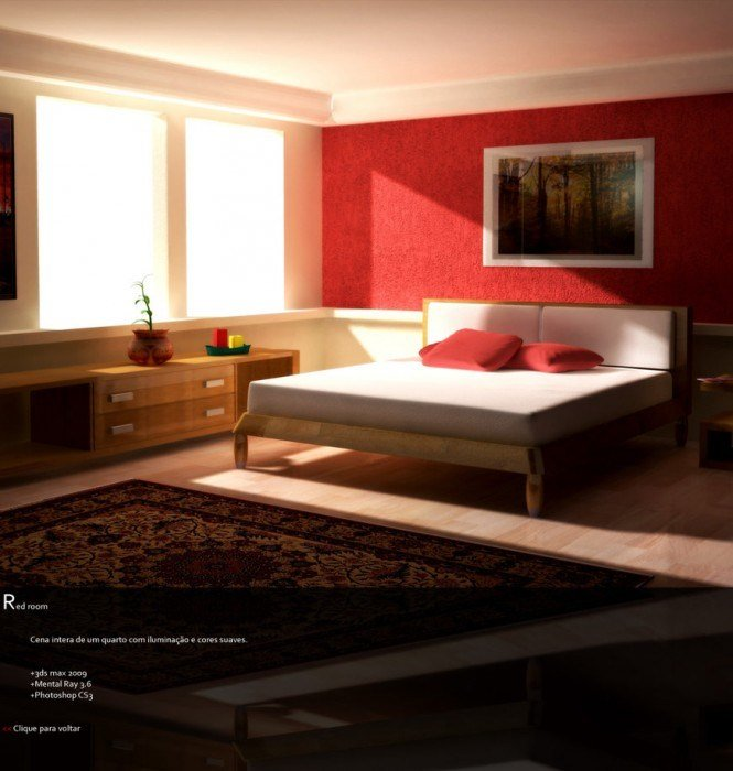 Best Comfortable Red Bedroom Design With Light Woods And Dim With Pictures