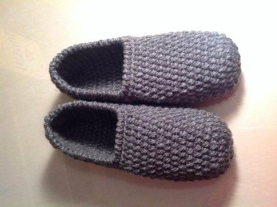 Best Items Similar To Men S Slippers Handmade Slippers Crochet Slippers Made In Canada Bedroom With Pictures