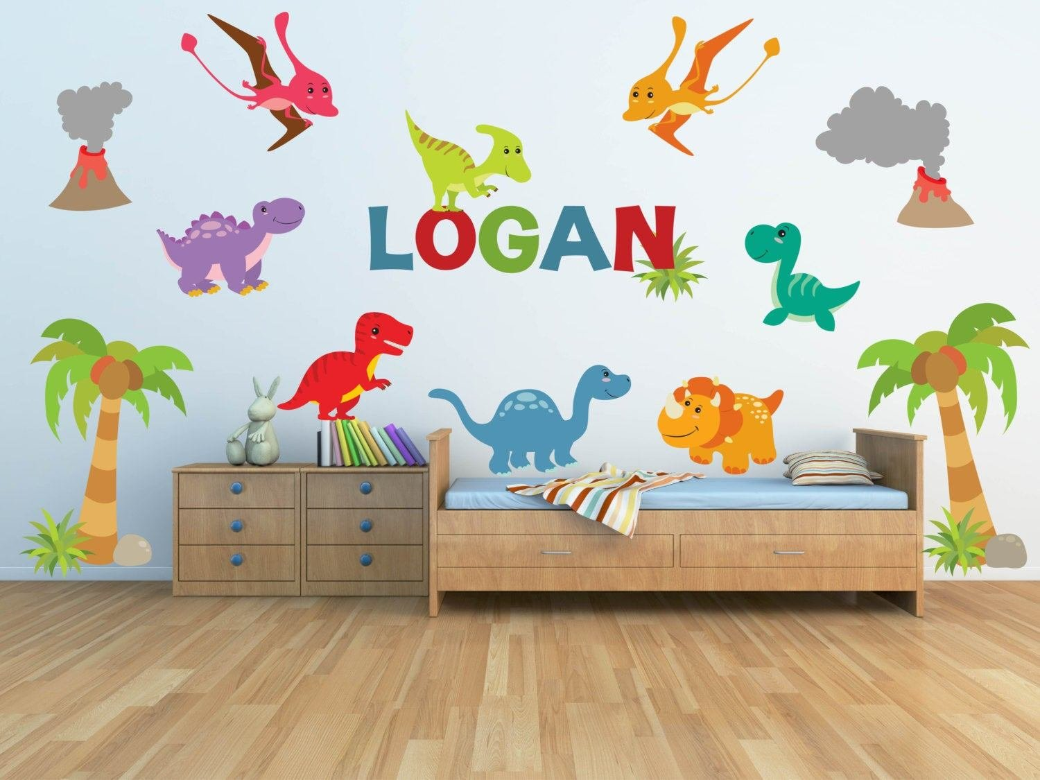 Best Dinosaur Wall Decal For Kids Bedroom Personalized Name With Pictures