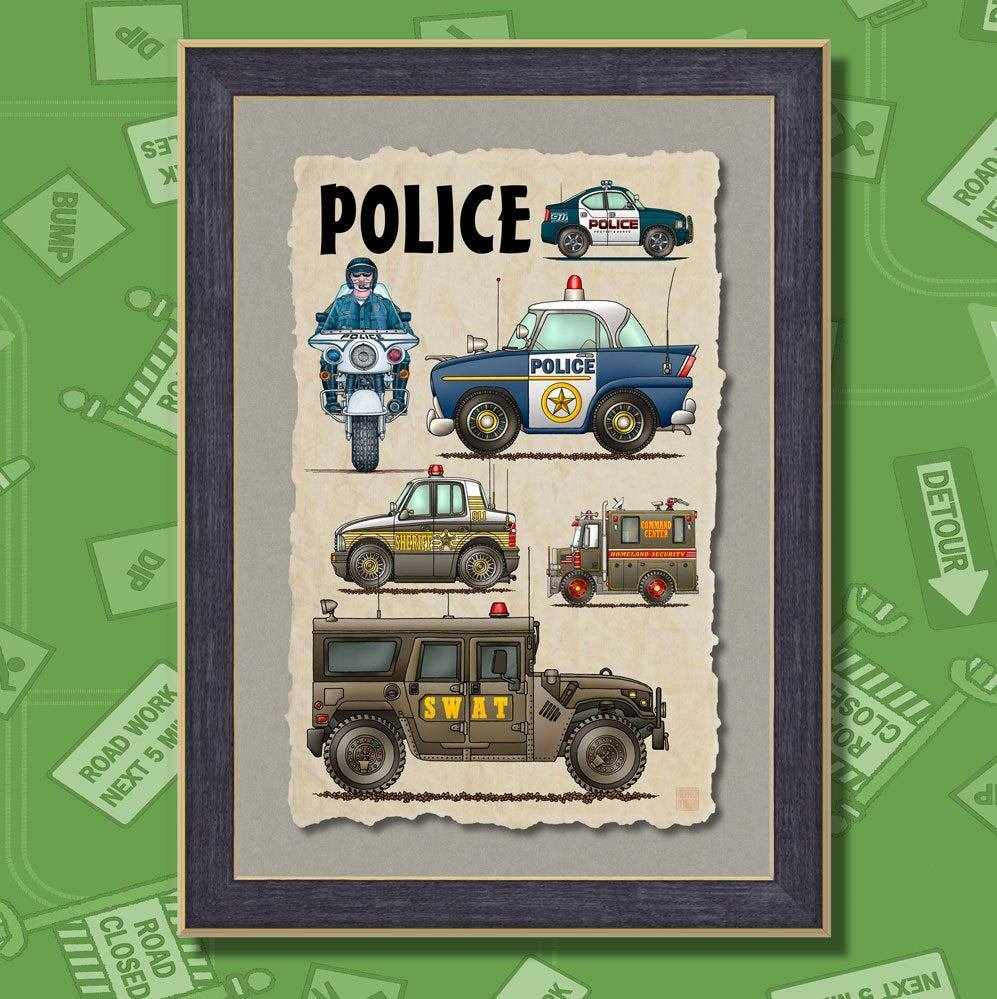 Best Police Cars Law Enforcement Poster Room Decor 13X19 Wall Decor With Pictures