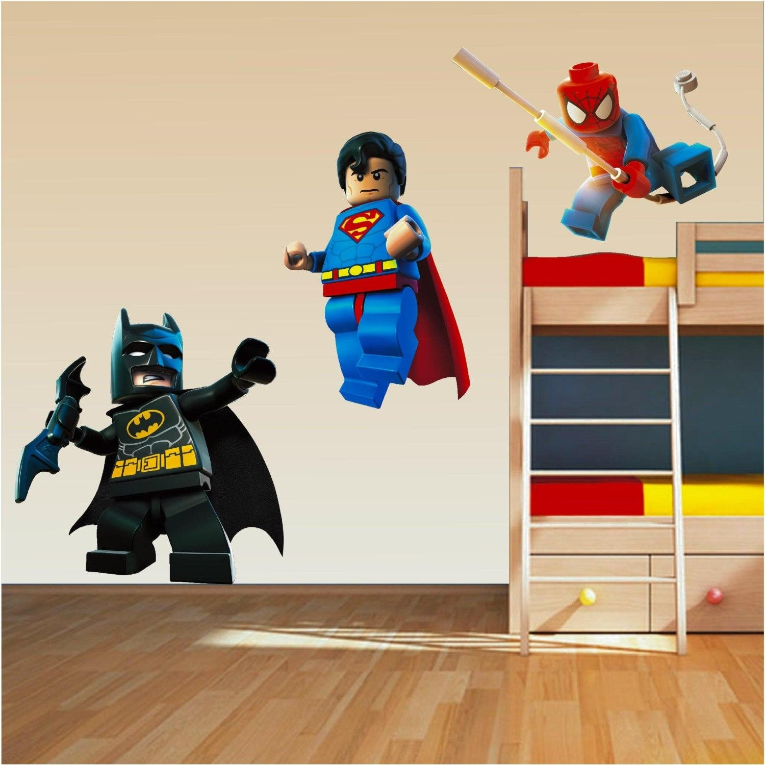 Best Lego Superhero Set Wall Art Stickers Decal Superman Spiderman With Pictures