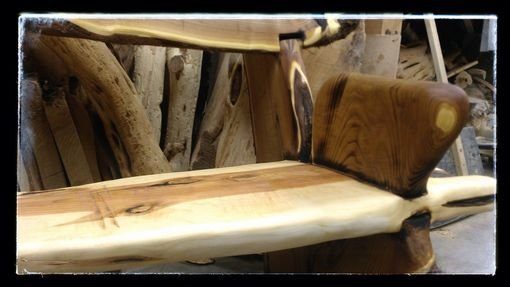 Best Hand Made Live Edge Rustic Bench Crotch Wood Slabs By Juniper Canyon Design Custommade Com With Pictures