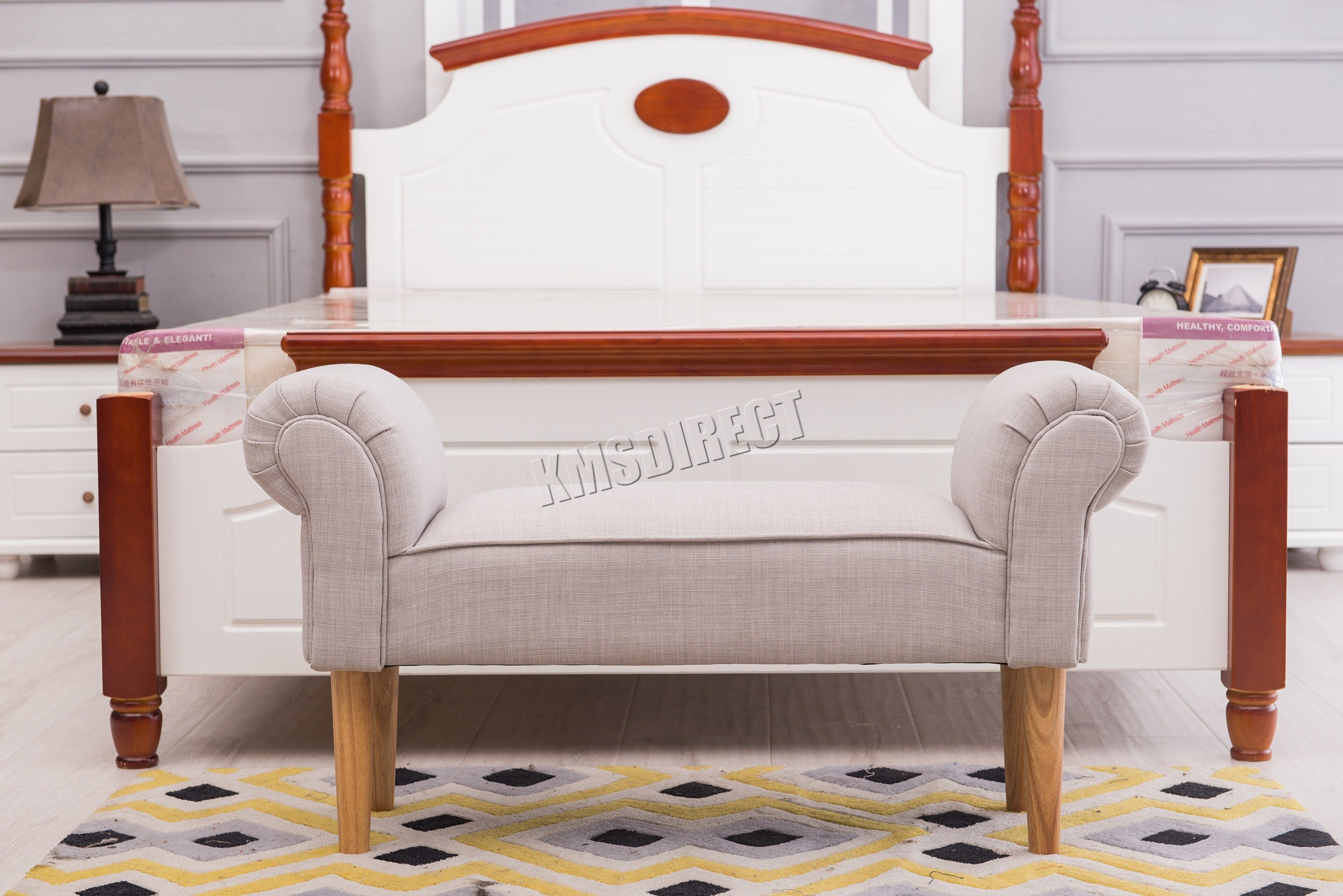 Best Westwood Fabric Bench Footstool Seat Pouf Pouffee Ottoman Stool Bedroom Lounge Ebay With Pictures