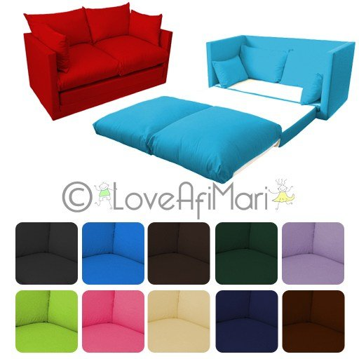 Best Fold Out 2 Seater Kids Teens Sofa Sofabed Guest Bed Futon With Pictures