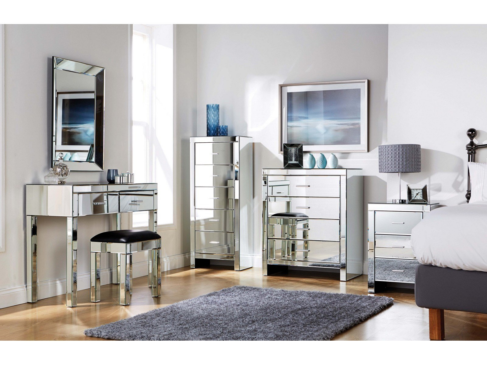 Best Mirrored Furniture Bedroom Collection Glass Chest With Pictures