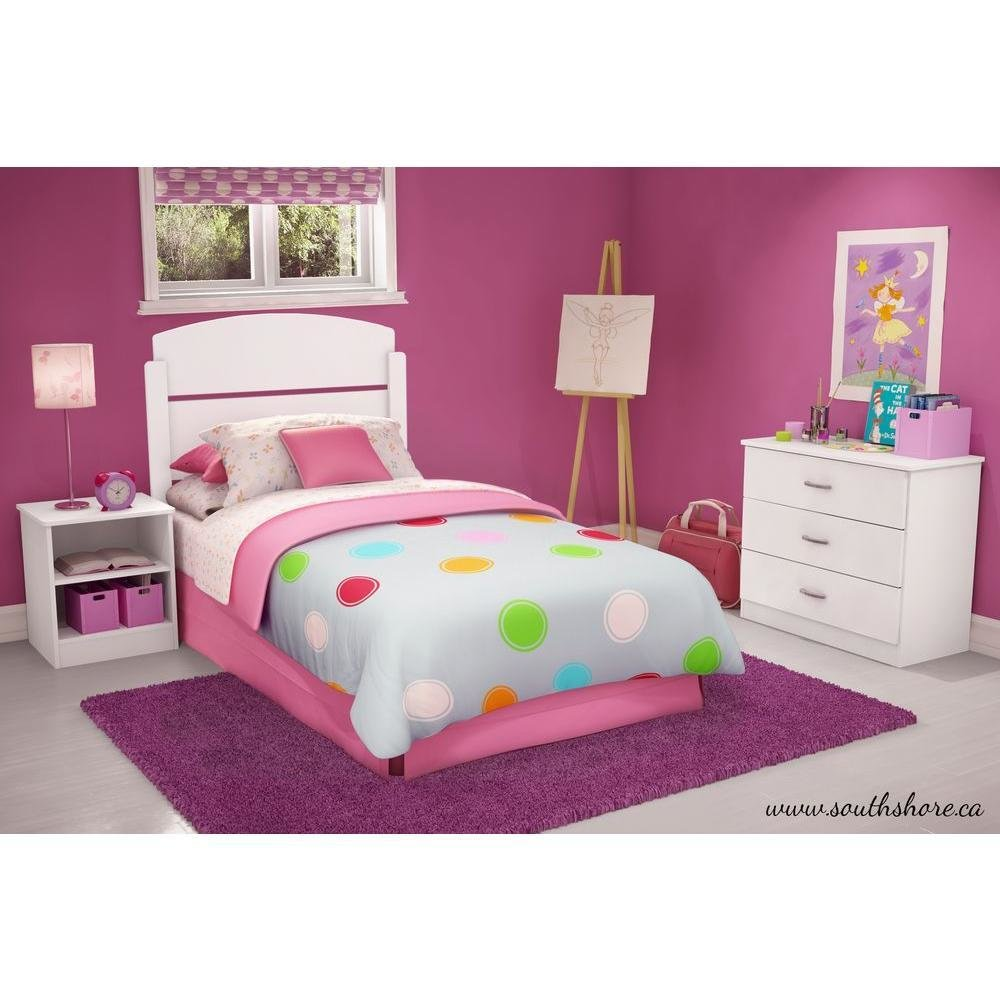 Best South Shore Libra 3 Piece Pure White Twin Kids Bedroom Set With Pictures