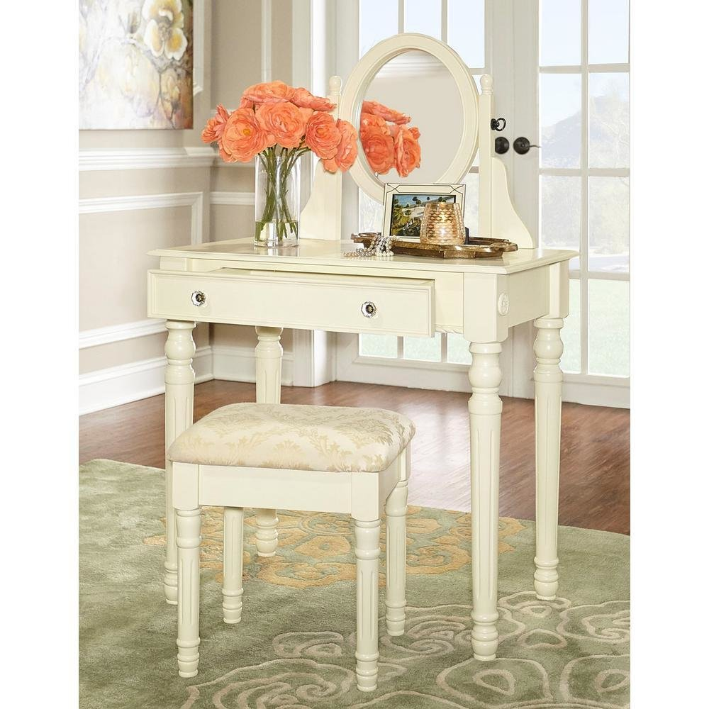 Best Home Decorators Collection Lorraine Bedroom Vanity Set In With Pictures