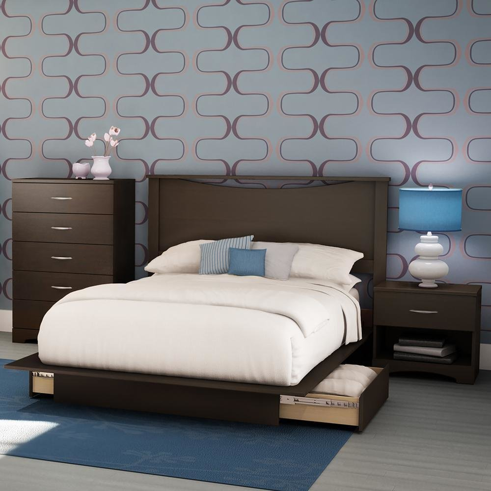 Best South Shore Step One 4 Piece Chocolate Full Bedroom Set With Pictures