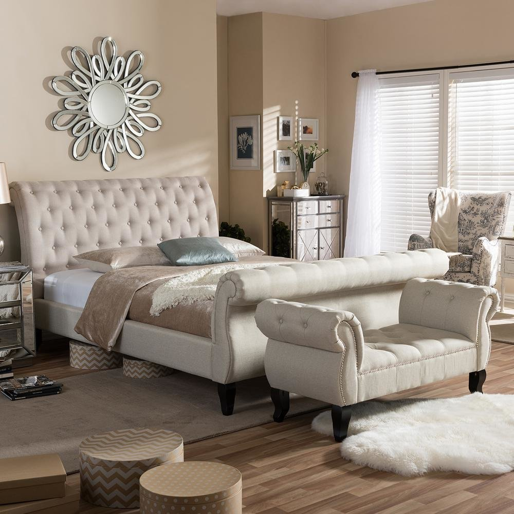 Best Baxton Studio Arran 2 Piece Beige King Bedroom Set 5202 5278 Hd The Home Depot With Pictures