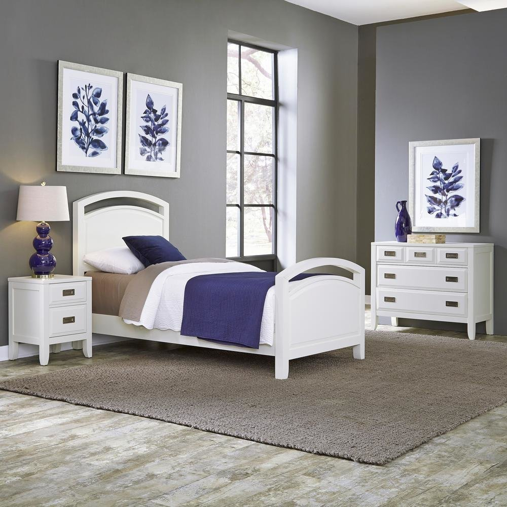 Best Home Styles Newport 3 Piece White Twin Bedroom Set 5515 With Pictures
