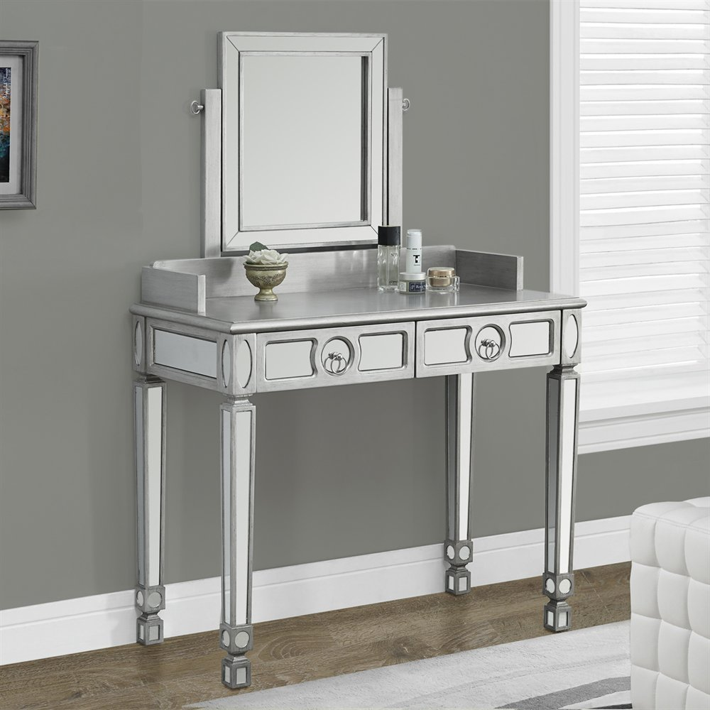 Best Monarch Specialties I 3711 Mirrored 36 In Vanity Lowe S Canada With Pictures