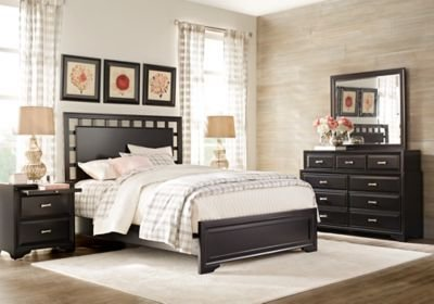 Best Belcourt Black 7 Pc King Lattice Bedroom King Bedroom With Pictures