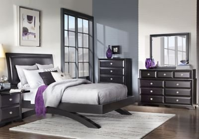 Best Belcourt Black 5 Pc Queen Platform Bedroom Queen Bedroom With Pictures