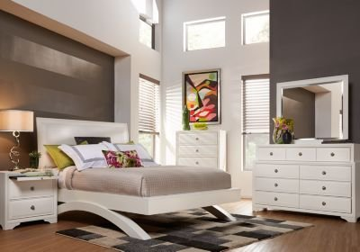 Best Belcourt White 5 Pc King Platform Bedroom King Bedroom With Pictures