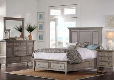 Best Belmar Gray 5 Pc King Panel Bedroom With Storage King With Pictures