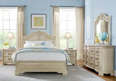Best Cortinella Cream 7 Pc King Panel Bedroom King Bedroom With Pictures