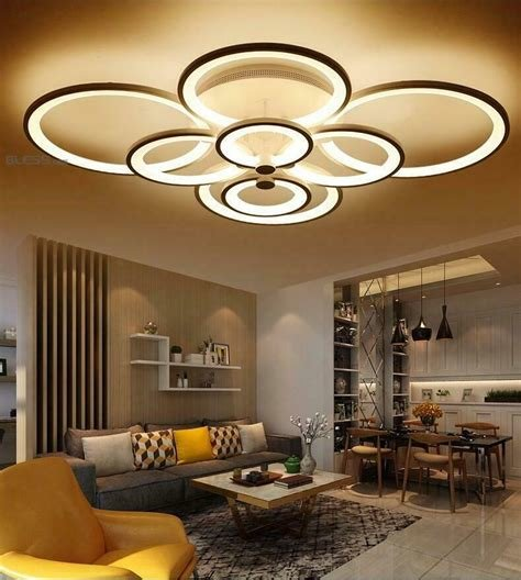 Best Remote Control Living Room Bedroom Modern Ceiling Lights Dimming Led Lighting Ebay With Pictures