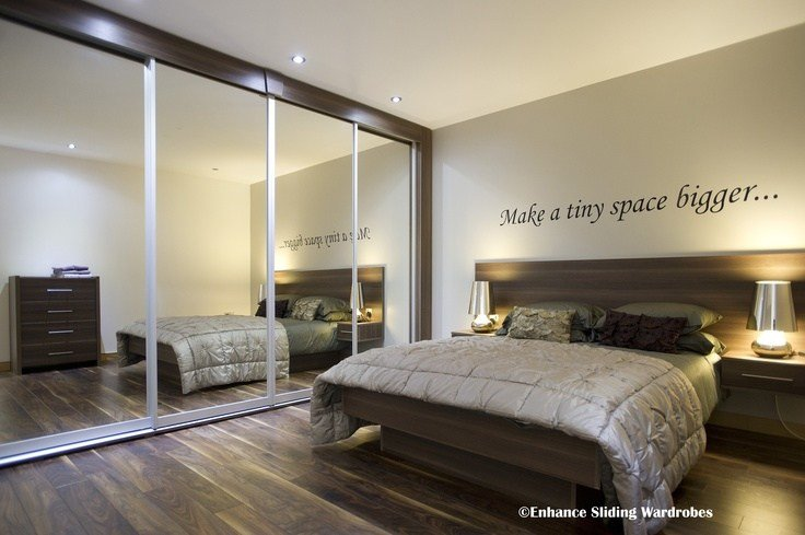 Best Mirror Sliding Wardrobes Samara Bed With Attached Drawers With Pictures
