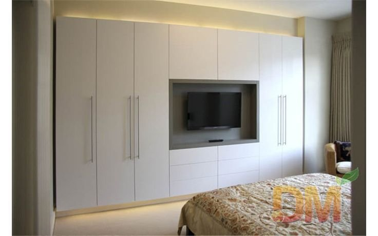 Best Hight Gloss Bedroom Set Built In Wardrobe With Tv Unit With Pictures