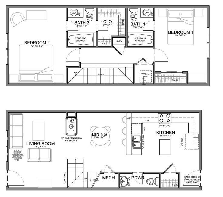 Best Small Skinny House Plans This Unit Is About The Same With Pictures
