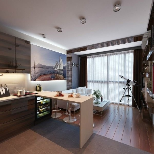 Best 3 Distinctly Themed Apartments Under 800 Square Feet With Floor Plans Kitchen Designs Small With Pictures