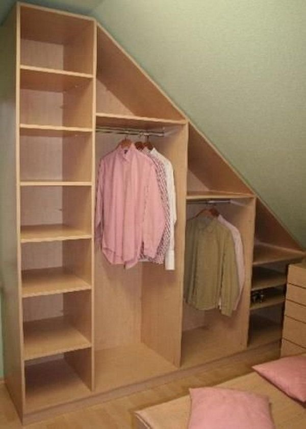 Best Creative Attic Storage Ideas And Solutions Home Attic Closet Attic Bedrooms Slanted Walls With Pictures
