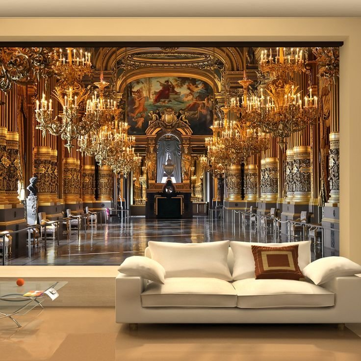 Best Large 3D Wallpaper Mural European Minimalist Living Room With Pictures