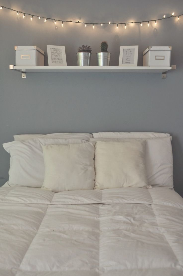Best Calming Light Blue Wall Shelf Above The Bed Seems So With Pictures