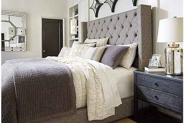 Best The Sorinella Upholstered Bed From Ashley Furniture Homestore Afhs Com The Queens Room With Pictures