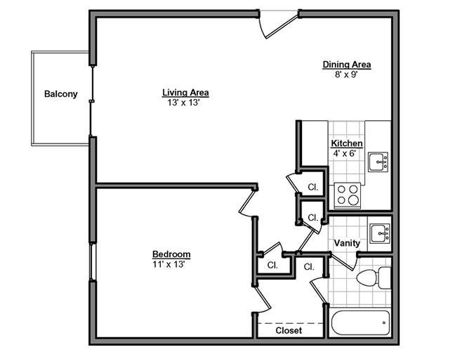 Best 1 Bedroom Guest House Floor Plans 700 Sq Ft Floor Plans With Pictures