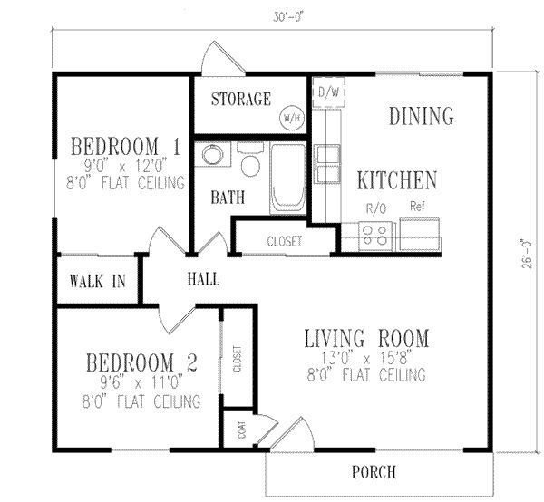 Best 2 Bedroom House Plans 1000 Square Feet 781 Square Feet With Pictures