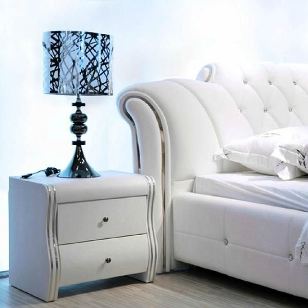 Best High Quality Leather Bed Bedroom Furnitures White Beds With Pictures