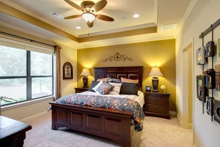 Best The Master Bedroom Features A Tray Ceiling With Crown With Pictures