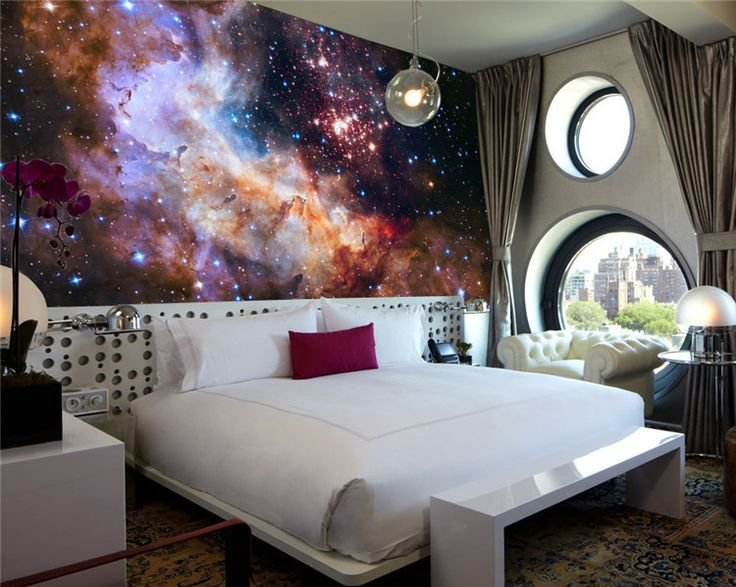 Best 3D Gorgeous Galaxy Photo Wallpaper Custom Silk Wallpaper With Pictures