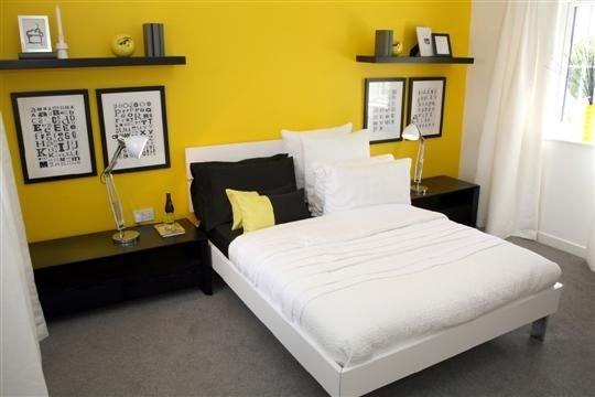 Best 34 Best Yellow Accent Wall Images On Pinterest Bedrooms With Pictures