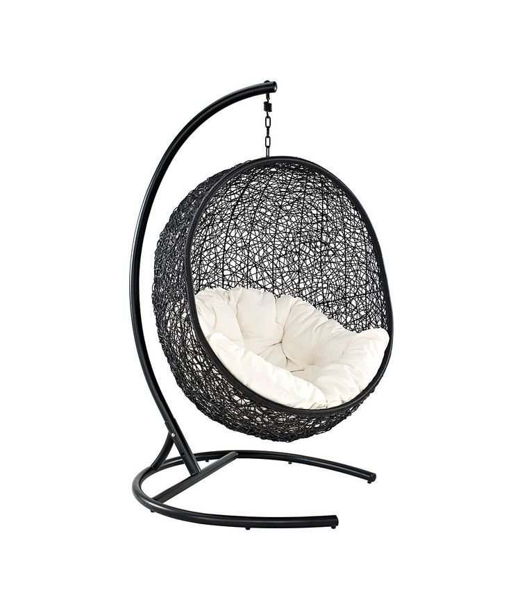 Best Cool T**N Room Chair Espresso White Encase Swing Chair With Pictures