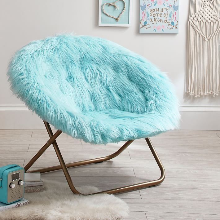 Best Himalayan Faux Fur Hang A Round Chair True Blues With Pictures